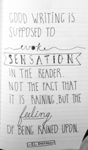 sensation in reader