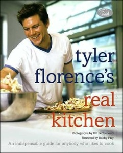 Just to split up the boy-mania on here, this is my other obsession this week. My favorite Tyler Florence cookbook ever, and it was completely Post-It riddled by the first night it was in my hands. I just made his blueberry scones, which are to die for. Oh, Tyler, fellow food addict and all things culinary aficionado, I love you. *sighs*