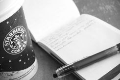 coffee and writing