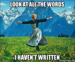 haven't written